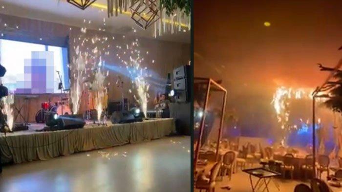 SALAH DEKORASI, Acara Pernikahan Mewah Berujung Malapetaka, Pengantin Hampir Celaka: Api Berkobar!