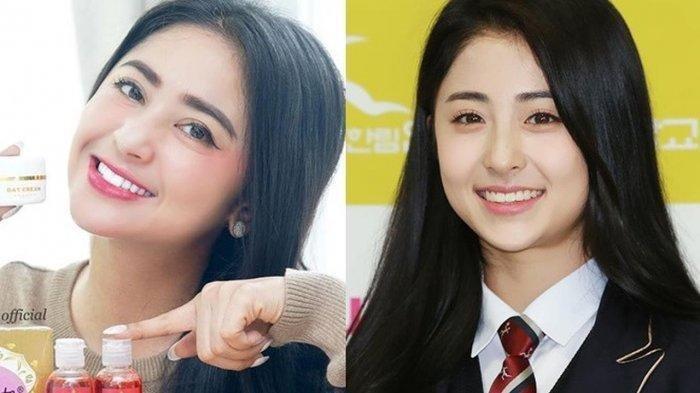 SULIT DIBEDAKAN 5 Artis Indonesia Ini Wajahnya Mirip Idol K-Pop, Dewi Perssik Serupa Heo Yun Jin