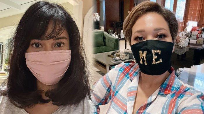 Dian Sastro dan Maia Estianty pakai masker kain