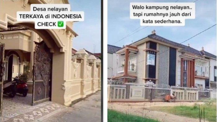 BAK Hotel Bintang 5, Rumah-rumah Mewah di Desa Nelayan Ini Viral, Penghasilan Warganya Tak Main-main