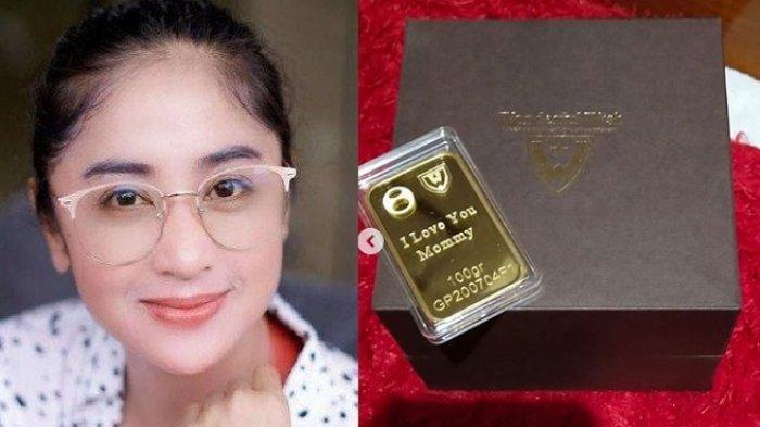 Tak Main-main, Dewi Perssik Bagi-bagi Hadiah Emas Batangan ke Keluarga Besar, Satunya Rp 95 Juta