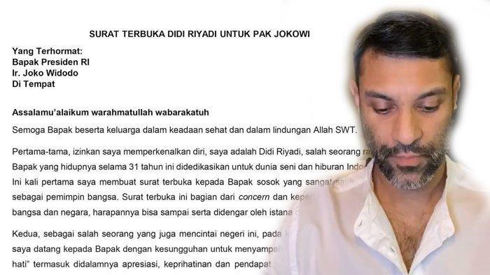 Fakta-fakta Surat Terbuka Didi Riyadi untuk Jokowi: Tolak Wacana PPKM Diperpanjang, Beri Usulan Ini