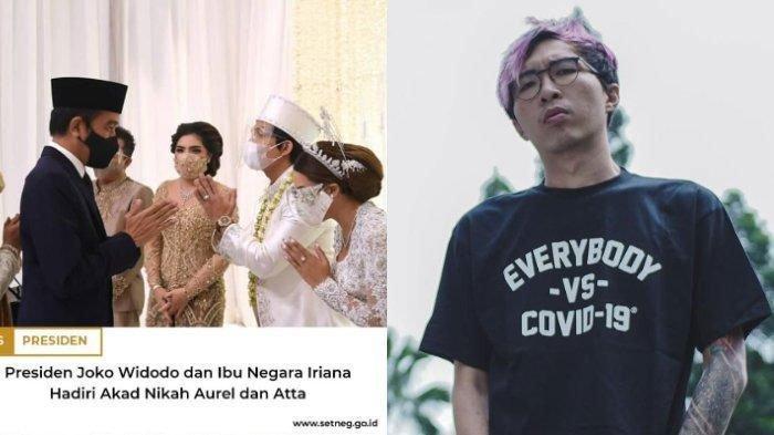 Foto Jokowi Hadiri Nikahan Atta-Aurel di Akun Resmi Setneg Tuai Kritik, dr Tirta Turut Komentar