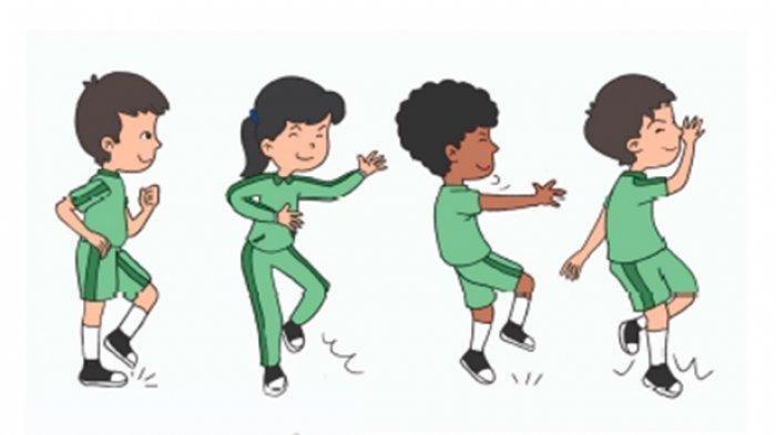 Edo dan teman-temannya sedang berolahraga.