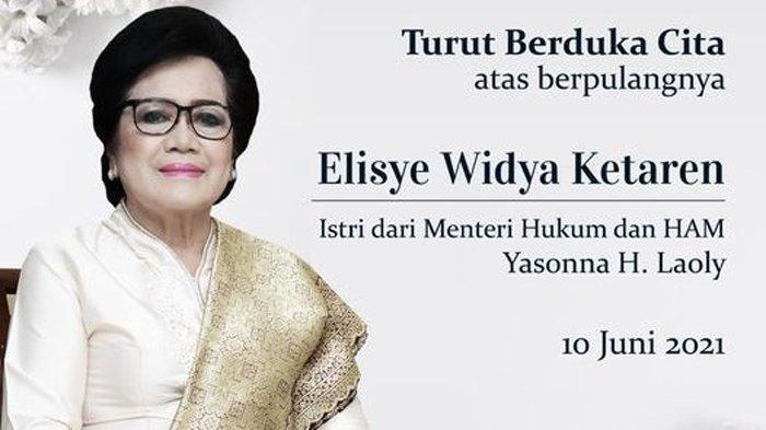 PROFIL Elisye W Ketaren Almarhumah Istri Menkumham Yasonna Laoly, Pernah Dapat Sepeda dari Jokowi