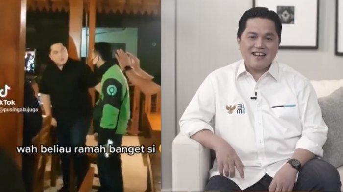 Ketemu Erick Thohir dan Ajak Foto, Driver Ojol Ini Malah Ketiban Rezeki, Sampai Dilayani Langsung