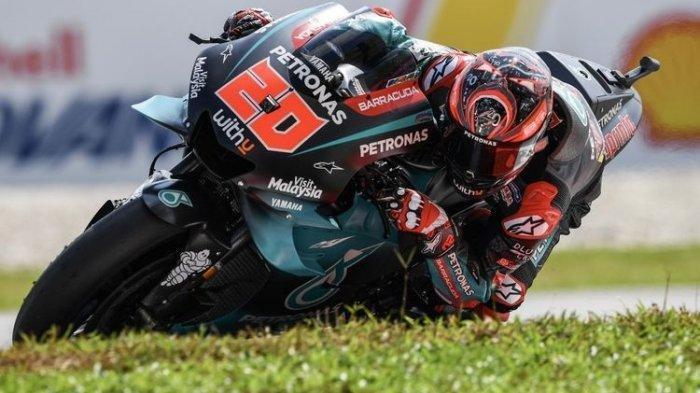 Fabio Quartararo saat balapan MotoGP
