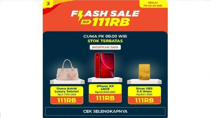 LINK Flash Sale Shopee 11.11 Pukul 00.00 WIB Rabu 11 November 2020, iPhone 11 Juta Jadi Rp 111 Ribu