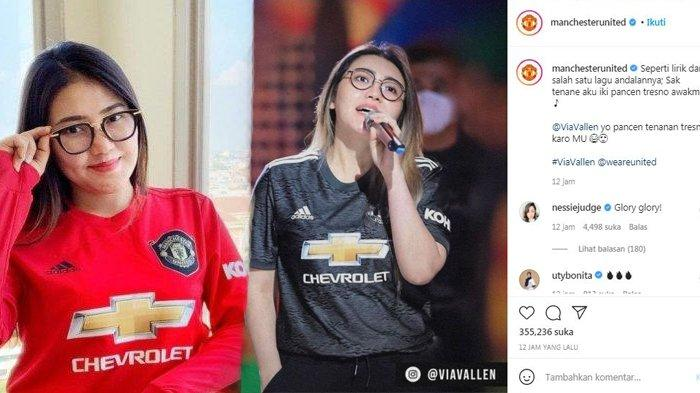 Fotonya Dipajang IG Manchester United 'Tresno Awakmu', Balasan Via Vallen Disorot: Wah MU Koploan