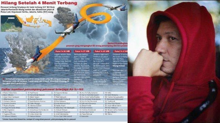 Gading Marten doakan korban pesawat Sriwijaya Air SJ 182.