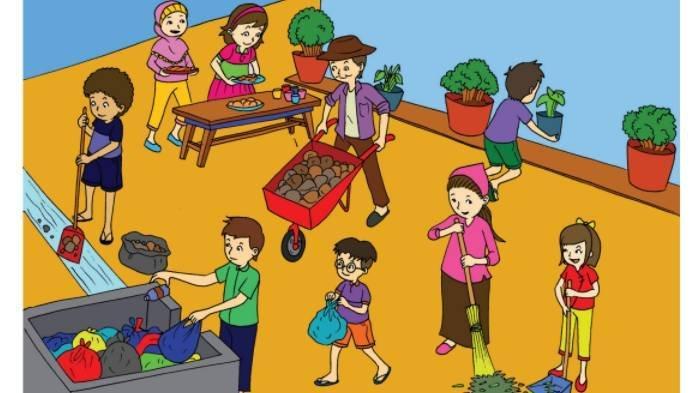KUNCI JAWABAN Tema 3 Kelas 3 SD Subtema 2 Hal 92-93, Hal yang Membuat Gotong Royong Cepat Selesai