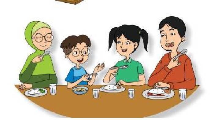 KUNCI JAWABAN Tema 1 Kelas 2 SD Subtema 3 Hal 135-137, Kalimat Perintah dari Lagu Sebelum Kita Makan