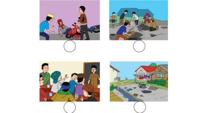 KUNCI JAWABAN Tema 1 Kelas 2 Hal 140-141, Gambar Mana yang Menunjukkan Sikap Rukun di Masyarakat?