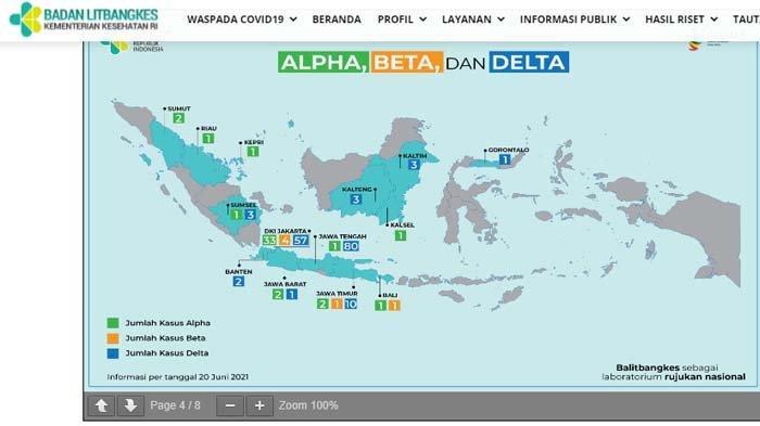 211 Kasus Corona Varian Baru di Indonesia, Tercatat Ada 160 Kasus Varian Delta, Berikut Daftarnya