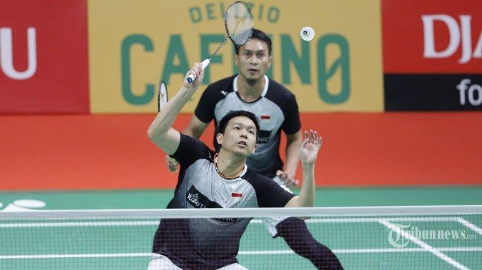 SEDANG BERLANGSUNG Badminton Olimpiade Tokyo 2020, Ahsan/Hendra Lawan Korea Selatan, Ini Linknya