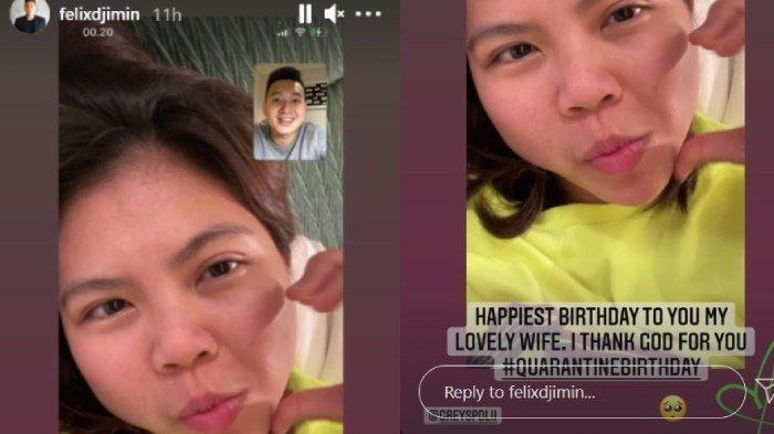 Greysia Polii tak bisa rayakan ulang tahun bareng suami, Felix Djimin