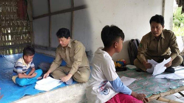 Viral Kisah Guru di Jatim Rela Datangi Rumah Siswanya untuk Mengajar, Banyak yang Tak Punya HP & TV