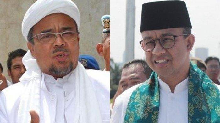 Habib Rizieq Shihab dan Anies Baswedan