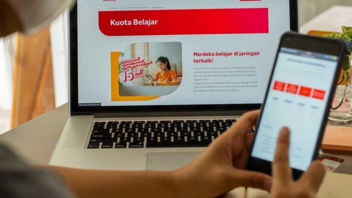 Ilustrasi bantuan kuota belajar Telkomsel dan Kemendikbudristek RI.