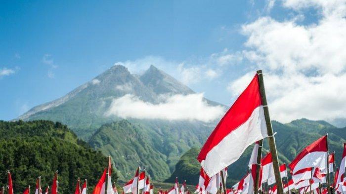 Ilustrasi bendera Indonesia