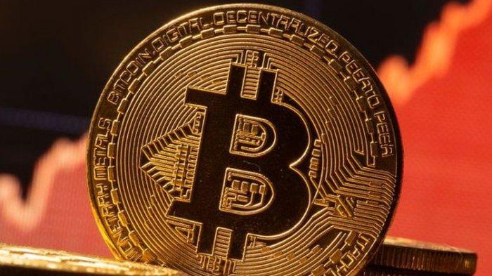 Ilustrasi bitcoin, aset kripto, cryptocurrency.