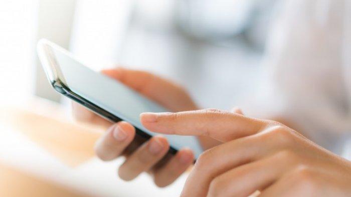Ilustrasi cek status penerima BLT UMKM via eform.bri.co.id dengan menggunakan ponsel pintar.