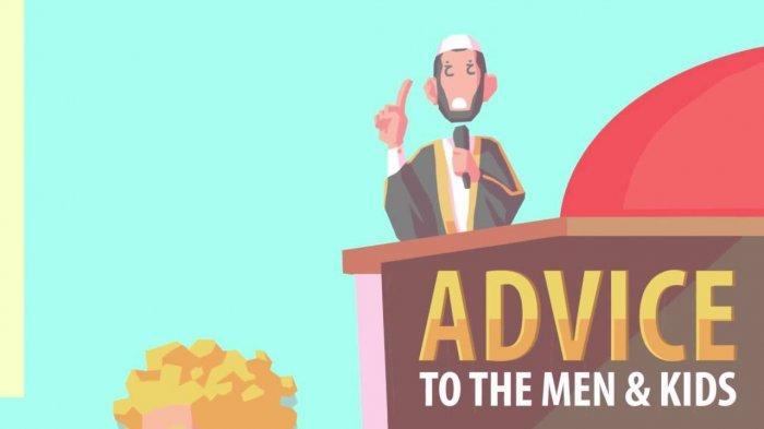 Ilustrasi ceramah di bulan Ramadhan 2021.