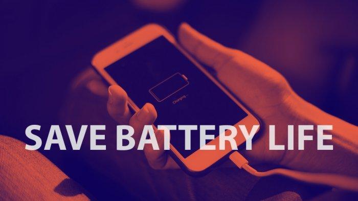 Ilustrasi hemat baterai HP.