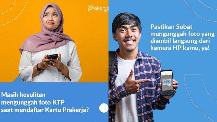 ilustrasi ketentuan mengunggah foto KTP di Kartu Prakerja.
