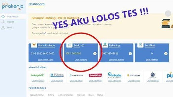 LOGIN www.prakerja.go.id untuk Cek Hasil Kartu Prakerja Gelombang 17, Bisa Lewat SMS, Ini Caranya