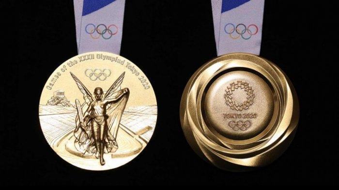 Ilustrasi Medali Emas Olimpiade Tokyo 2020.