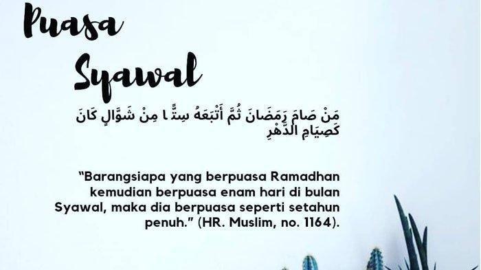 Kapan Waktu Paling Tepat Melafalkan Niat Puasa Syawal 1442 H? Beda dengan Niat Puasa Ramadhan