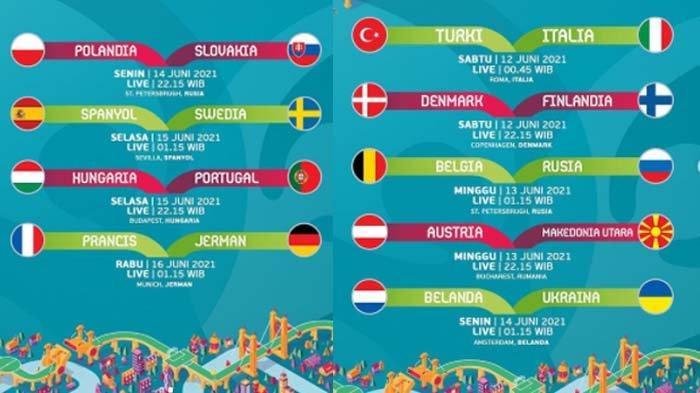LINK LIVE STREAMING Laga Grup E Euro 2020, Polandia vs Slovakia Malam Ini, Tayang di RCTI & Mola TV