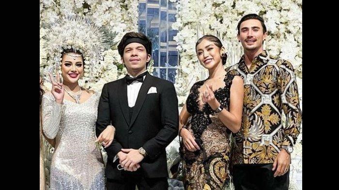 Tak Sendirian, Jessica Iskandar Gandeng Vincent Verhaag di Nikahan Aurel & Atta, Intip Potretnya