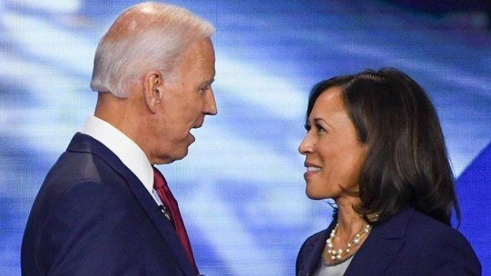 Calon Presiden dan Calon Wakil Presiden Partai Demokrat Pilpres 2020 Joe Biden dan Kamala Harris (AFP)
