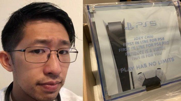 BUKAN Hanya Filter, Pria Ini Benar-benar Jadi Orang Pertama di Dunia yang Miliki PS5, Gratis Pula!