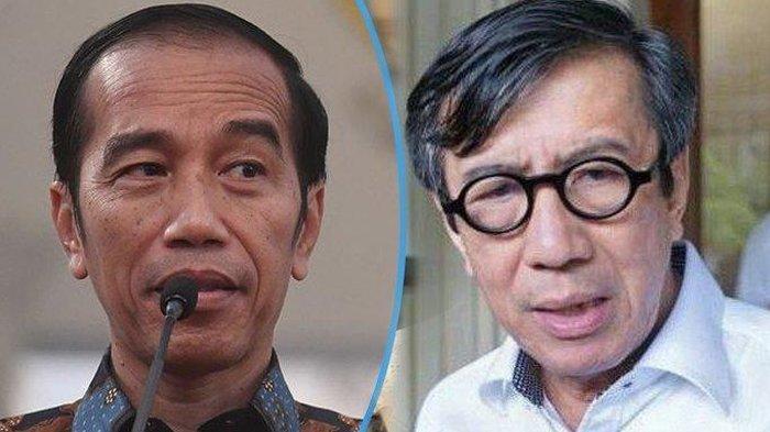 Jokowi dan Yasonna Laoly.