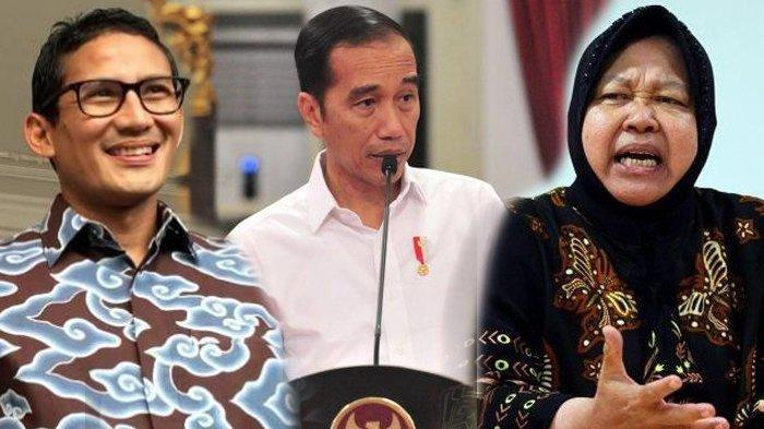 Jokowi kenalkan enam menteri baru, Sandiaga Uno hingga Risma.