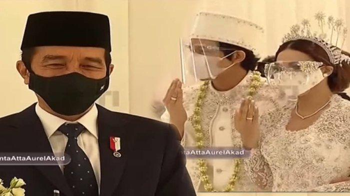Termasuk Aurel & Atta Halilintar, 4 Seleb Ini Menikah Dihadiri Presiden Jokowi, Jadi Kado Spesial!