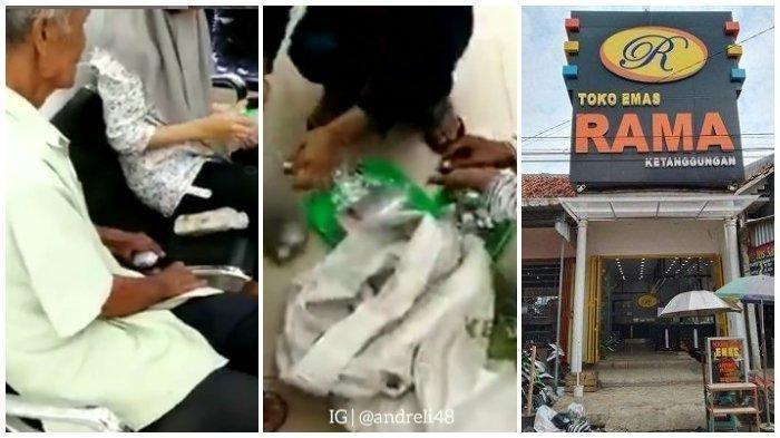 Ditolak 2 Toko, Kakek Pengemis Berhasil Beli Perhiasan Pakai Uang Receh 2 Karung, Terungkap Totalnya