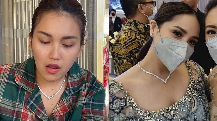 Kalung berlian Ayu Ting Ting dituding mirip kalung milik Nagita Slavina.