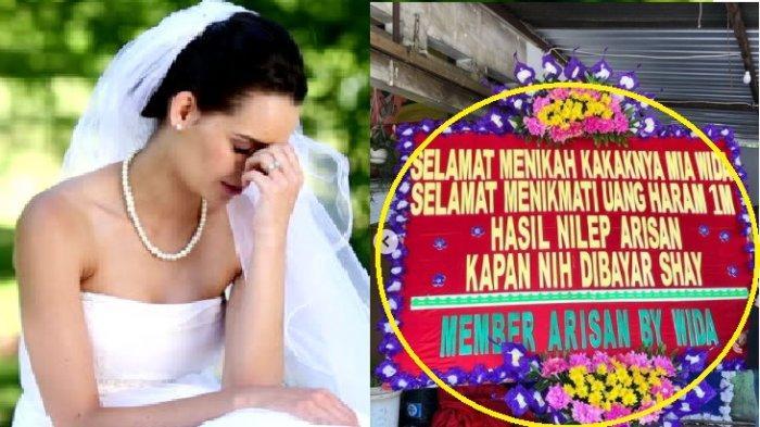 PESTA Nikah Semula Bahagia Seketika Syok, Datang Karangan Bunga 'Selamat Menikmati Uang Nilep 1 M'