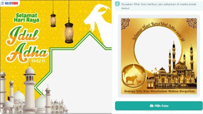 LINK Membuat Twibbon & Download Kartu Ucapan Selamat Idul Adha 1442, Bagikan di IG, FB, WA & TikTok