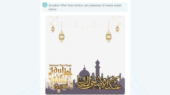 Kartu ucapan selamat Hari Raya Idul Adha 2021.