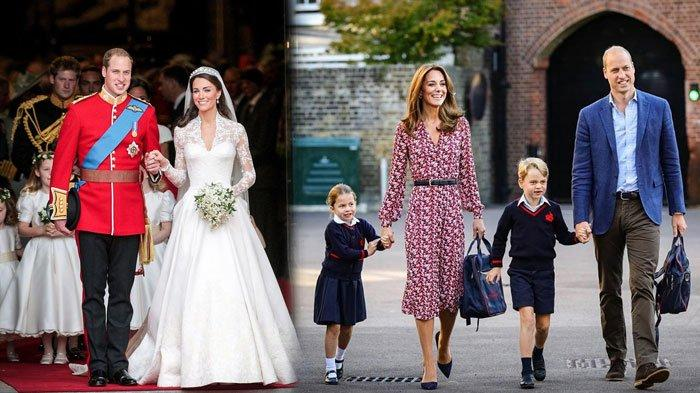 Kate Middleton, Pangeran William, dan dua anaknya