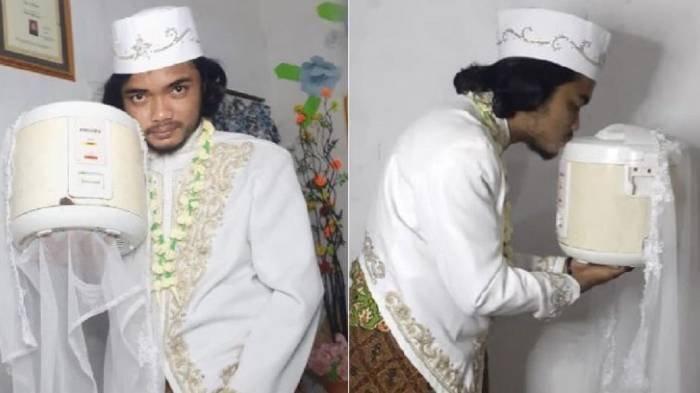 Heboh Pria Indonesia Menikahi Rice Cooker Jadi Berita Internasional, Sebut Sudah Cerai karena Ini