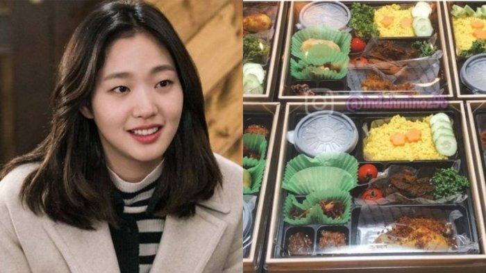 Artis Korea 'Melokal', Kim Go Eun Semringah Dapat Kiriman Nasi Kuning di Lokasi Syuting, Fans Heboh