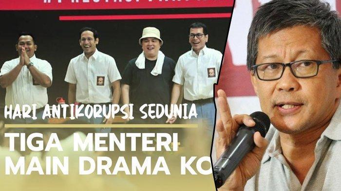 Reaksi Rocky Gerung Melihat Pentas Drama 3 Menteri Jokowi di Hari Anti Korupsi, 'Opera Van Norak'