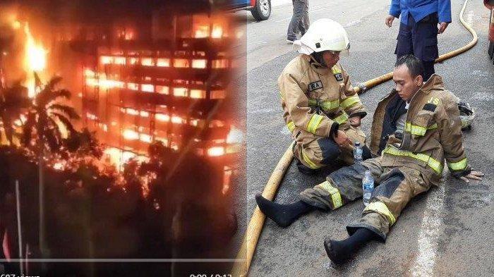 PERJUANGAN Petugas Damkar, 12 Jam Padamkan Api di Gedung Kejaksaan Agung, Kaki Keram & Sulit Napas