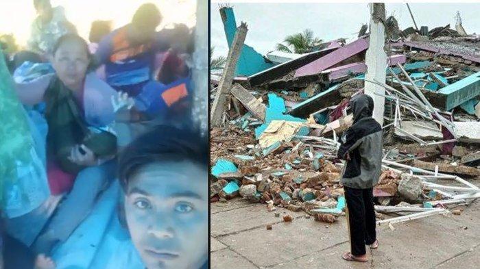 Kondisi warga di posko pengungsian korban gempa di Majene